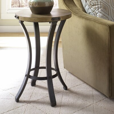 Hassani Contemporary End Table with Round Table Top