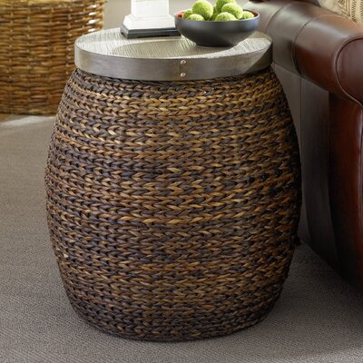 Greenport Coastal End Table with Wool Base