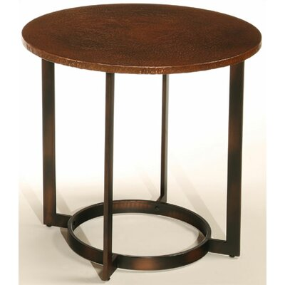 Cheap Hammary Nueva Round End Table in Aged Copper (HAM3036)