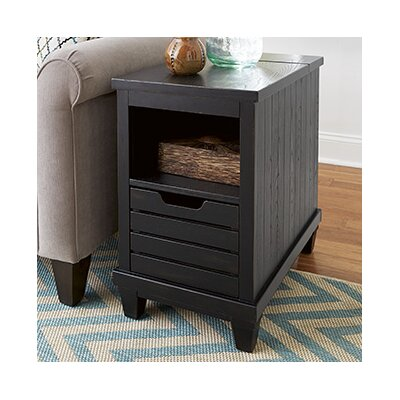 Fontenay Charging Chairside Table Color: Rustic Black
