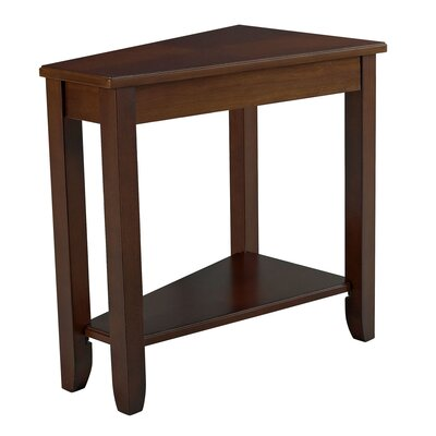Gertie Wedge Chairside Table Color: Cherry