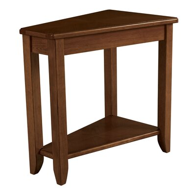 Gertie Wedge Chairside Table Color: Oak