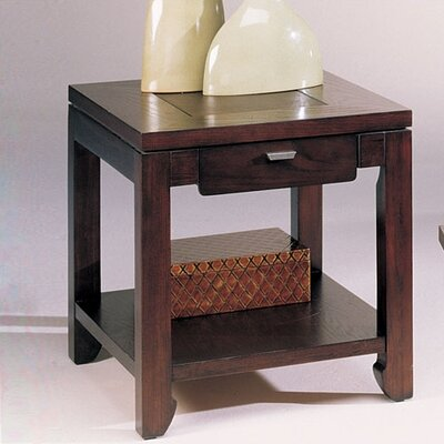 Cheap Hammary Kanson Rectangular Drawer End Table in Oxblood (HAM1391)