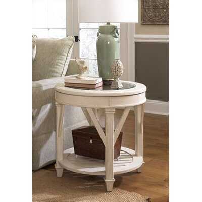 Cheap Hammary Promenade Round End Table in Antique Linen Finish (HAM1860)