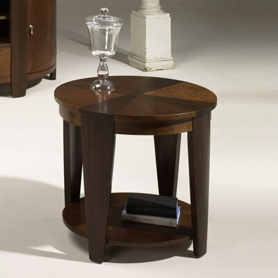 Cheap Hammary Oasis Oval End Table in Rich Medium Cherry/Walnut Finish (HAM1977)