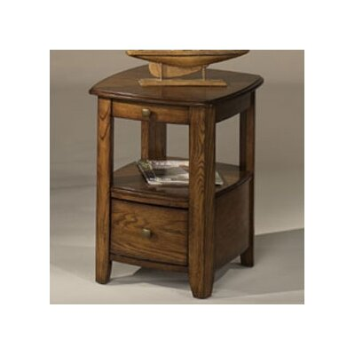 Cheap Hammary Primo Chairside Table in Warm Medium Brown Finish (HAM2040)