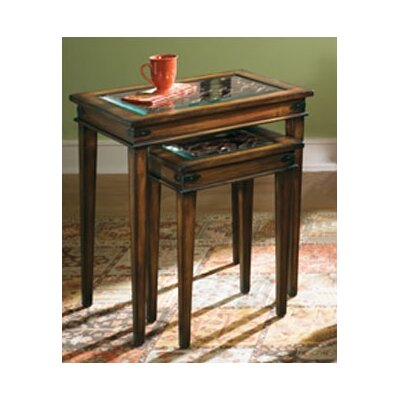 Cheap Hammary Hidden Treasures Beveled Glass Insert Tops Nesting Tables (HAM2233)