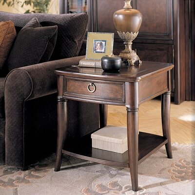 Cheap Hammary Magellan Drawer End Table in Rich Chocolate Finish (HAM2514)