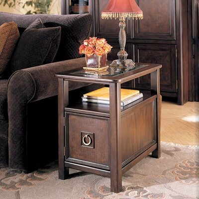 Cheap Hammary Magellan Chairside Table in Rich Chocolate Finish (HAM2515)