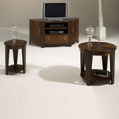 Cheap Hammary Oasis Accent Table Set in Rich Medium Cherry and Walnut Finish (HAM2748)