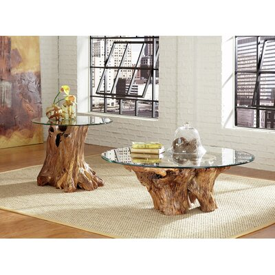 Hidden Treasures Root Ball Coffee Table Set