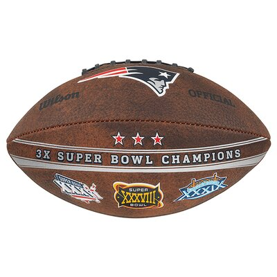 Gulf Coast Sales NFL Commemorative Championship Football - NFL Team: New England Patriots at Sears.com