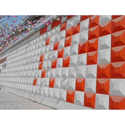 Diane 11.88 x 11.88 Mosaic Tile in White