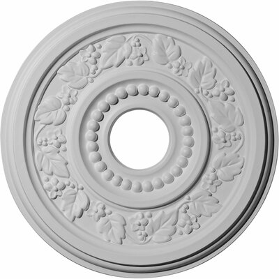 Genevieve 16.13H x 16.13W x 0.88D Ceiling Medallion