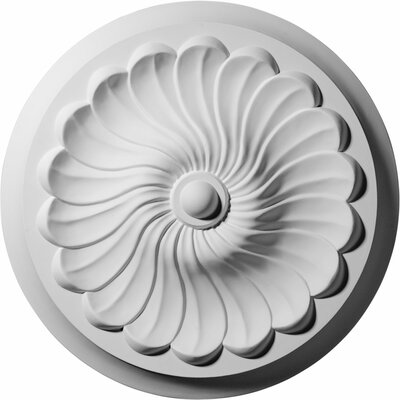Flower Spiral 12.25H x 12.25W x 2.25D Ceiling Medallion