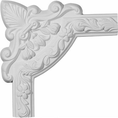"""Ekena Millwork Sussex 10 3/4"""" H x 10 3/4"""" W Floral Panel Moulding Corner"""