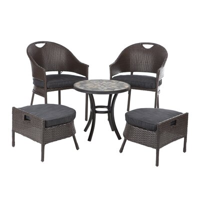 Campeche 5 Piece Dining Set with cushions