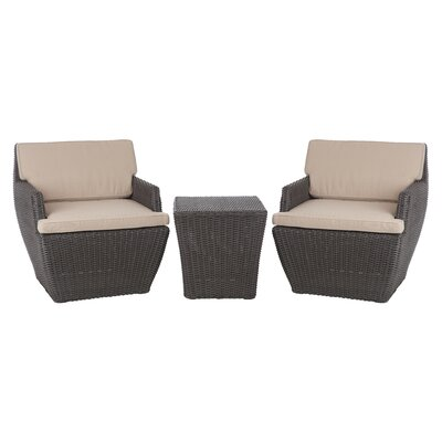 Bel Cubo 3 Piece Bistro Set