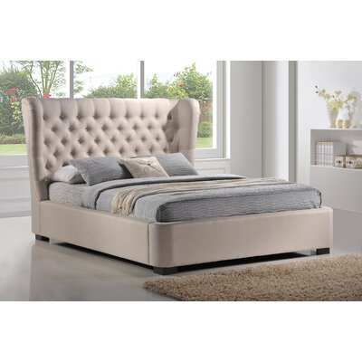 Upholstered Platform Bed Size: King, Color: Palazzo Mist