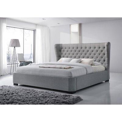 Upholstered Platform Bed Size: King, Color: Gray