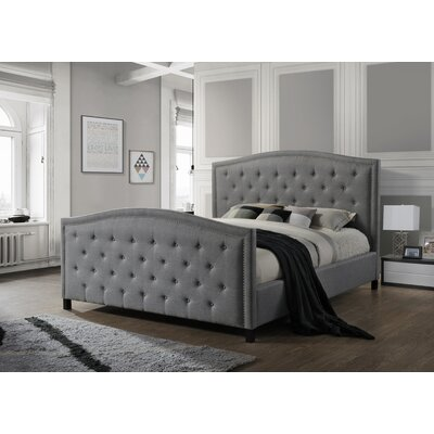 Camden King Upholstered Panel Bed Size: King, Color: Gray