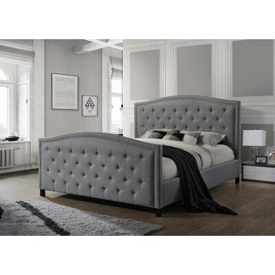 Camden King Upholstered Panel Bed Size: King, Upholstery: Gray