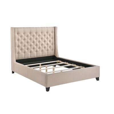 Huntington Platform Bed Size: Queen, Upholstery: Sand
