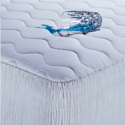Beautyrest 200 Thread Count Cotton Waterproof Mattress Pad with Antimicrobial Fill - Size: Queen