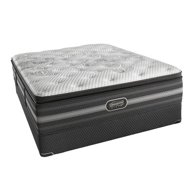"Beautyrest Black Katarina 15"" Firm Pillow Top Mattress and Box Spring Mattress Size: King, Box Spring Height: Low Profile"