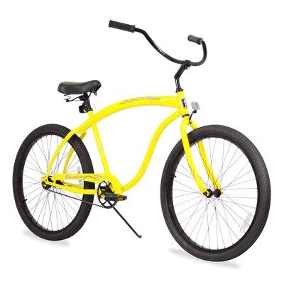 Beachbikes Men's Bruiser Beach Cruiser Bike - Frame Color: Yellow
