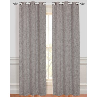 Dainty Home Manhattan Curtain Panels (Set of 2) - Color: Silver