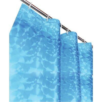 Sphere PEVA 3D Shower Curtain Color: Light Blue