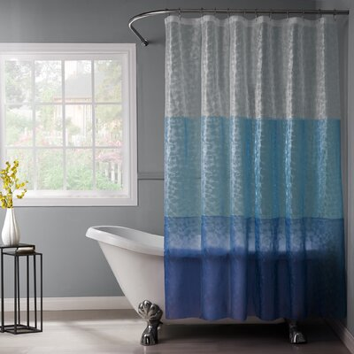 Reflection PEVA 3D Shower Curtain Color: Blue/Navy