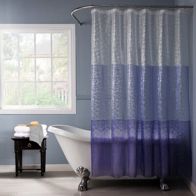 Reflection PEVA 3D Shower Curtain Color: Purple/Lilac