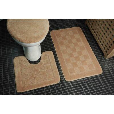 3 Piece Bath Rug Set Color: Ivory