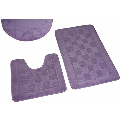 Sheppton 3 Piece Bath Rug Set Color: Lilac
