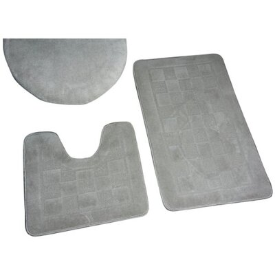 Sheppton 3 Piece Bath Rug Set Color: Silver