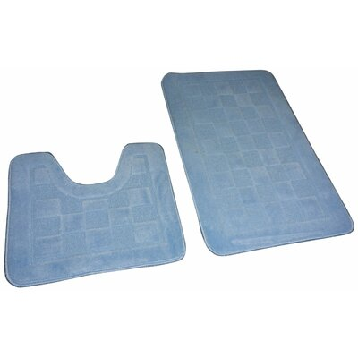 Sheppton 3 Piece Bath Rug Set Color: Sky Blue