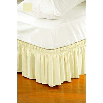 Solid Ruffle Bed Skirt Size: Twin/Full, Color: Beige