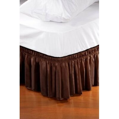 Solid Ruffle Bed Skirt Size: Twin/Full, Color: Coffee