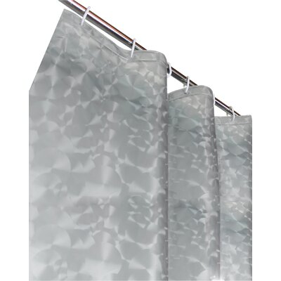 Sphere PEVA 3D Shower Curtain Color: Silver