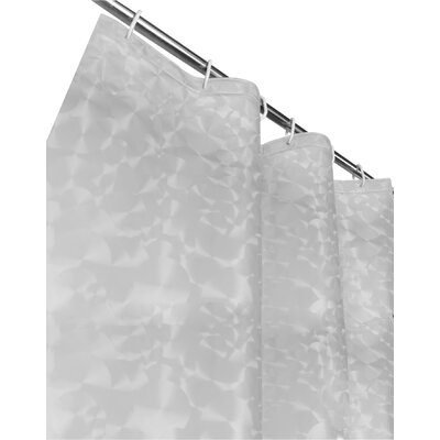 Bergenfield 3D Vinyl Shower Curtain Color: Clear