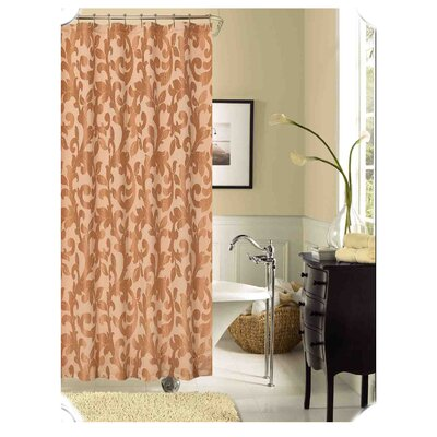 Dahlia Shower Curtain Color: Taupe