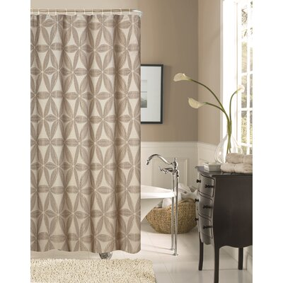 Iris Fabric Shower Curtain Color: Taupe