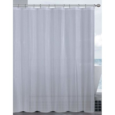 Mirage 3D Vinyl Shower Curtain Liner Color: Clear