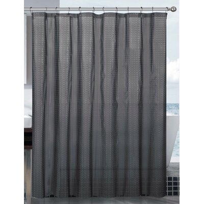 Mirage 3D Vinyl Shower Curtain Liner Color: Black