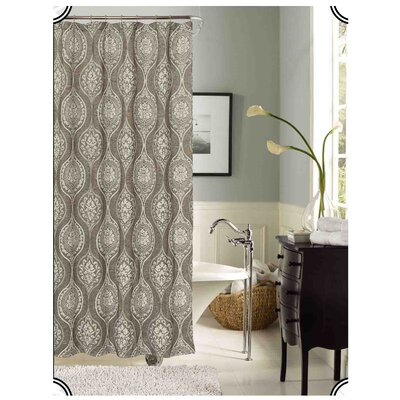 Monaco Shower Curtain Color: Silver