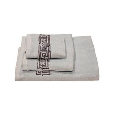 Helena Greek Key 3 Piece Towel Set Color: Sky Blue