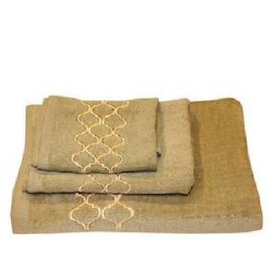 Modern Trealls 3 Piece Towel Set Color: Sage