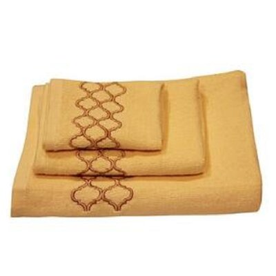Modern Trealls 3 Piece Towel Set Color: Ivory